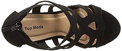 Top Moda Womens Ella-15 Fashion Wedge Sandals