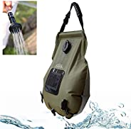 SmartHS Solar Camping Shower Bag, 5 Gallon Portable Outdoor Shower Bag with Switchable Shower Head, Thermomete