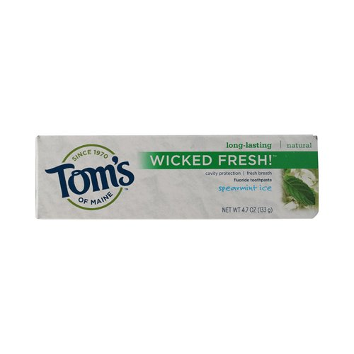 Toms of Maine Wicked Fresh Toothpaste Spearmint Ice - 4.7 oz - Case of 6 , Toms of Maine , Oral Care, Health & Beauty