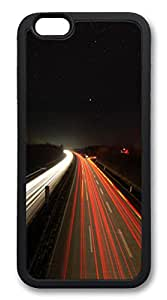 iphone 6 plus 5.5inch Case iphone 6 plus 5.5inch Cases Highway Lights TPU Rubber Soft Case Back Cover for iphone 6 plus 5.5inch black