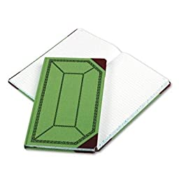 Boorum & Pease - Record/Account Book Record Rule Green/Red 300 Pages 12 1/2 X 7 5/8 \