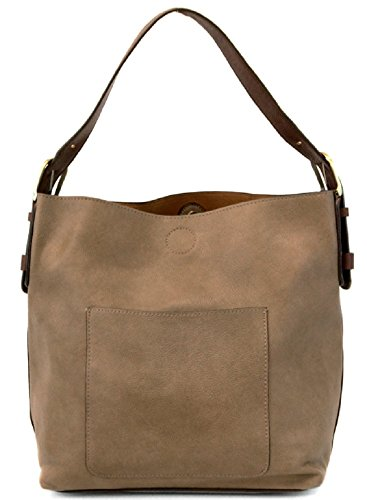 Joy Susan Classic Hobo Handbag (Dark Flax Brown Handle) by Joy Susan