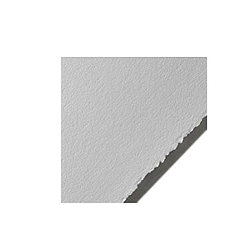 Legion Stonehenge Paper, Cotton Deckle Edge Sheets, 22 X 30 inches, Polar White, Pack of 10 (Silkscreen Paper)
