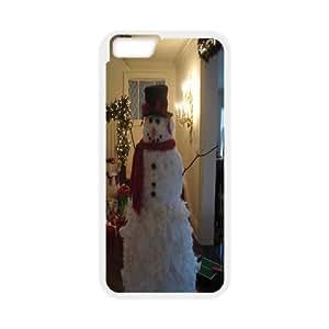 Custom A Happy Hand Made Snowman Iphone6 Plus Case, A Happy Hand Made Snowman Personalized Case for iPhone 6 plus 5.5