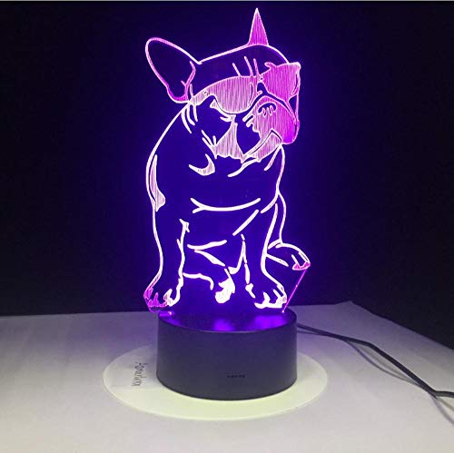 7 farbige 3D-Nachtlicht-LED Multi Dogs Night Light Touch Switch Changing Table Lamp 5V USB Night Lights Home Decor Kids…
