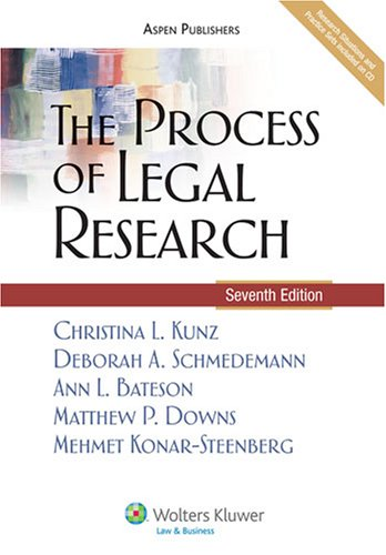 Process of Legal Research (Simplicity Aspen)