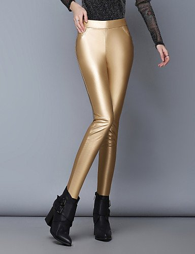 TT&KUZI Pantaloni da Donna Skinny Attillato/Casual Denim/PU Media Elasticità, XL