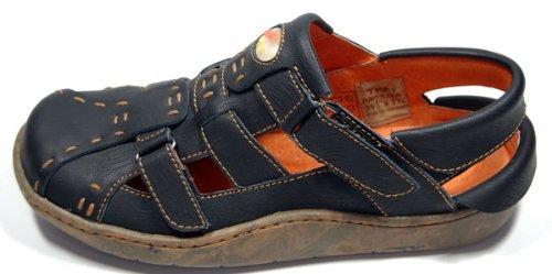 Leder Sandaletten Comfort Damen Sandale Schuh Rot Gelb Weiß Grau Schwarz Beige Schuhe echt Leder Pantoletten Clogs Schwarz