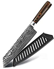 LY Kitchen Meat Cleaver Knives , Japanese Chef Stainless Steel Damascus Santoku Cutter Set ,Vegetable Ergonomic Non-Slip Professional Knife (Color : 7.5 Kiritsuke Knife)
