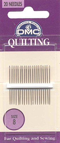 - DMC 1766-8 Quilting Hand Needles, 20-Pack, Size 8