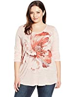 Lucky Brand Women's Plus-Size Painted Floral T-Shirt