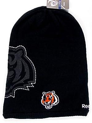 Reebok NFL Licensed Long Onfield Fleeced Lined Beanie Hat Cap Lid Toque