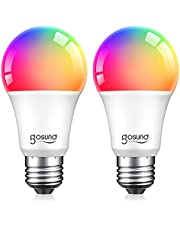Smart Alexa LED A19 Light Bulbs, 75W Equivalent, Efficient 8W, E26 Upgraded Color Changing Dimmable WiFi Energy Saving Dimmable Bulb, No Hub Required, 2.4GHz Only, Compatible with Alexa and Google Home