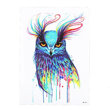 1pc Waterproof Fake Temporary Tattoo Sticker Pretty Vivid Owl Pattern Body Art Tattoo for Girl Women Men HB-361 by HJLHYL