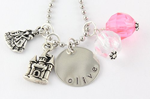 Princess Personalized Charm Necklace - Custom Gift for Little Girl - Stocking Stuffer