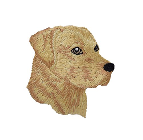 Yellow Lab - Head - Dog - Pets - Labrador Retriever - Iron on Embroidered Patch Applique
