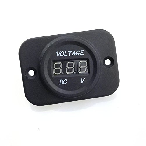 Jili Online 12V 24V Waterproof Car Motorcycle LED Digital Display Voltmeter With Cable by Jili Online (Image #6)