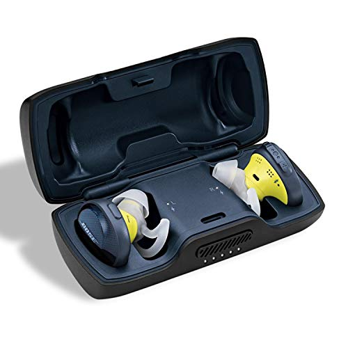 Easy+ Protective Silicone Skin Carrying Case for Bose SoundSport Free Truly Wireless Sport Headphones, Protective Silicone Cover Skin Charging Case, for Bose soundsport Wireless Headphones, Black