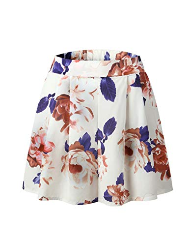 Women Floral Romper Printed Summer Dress Rompers Boho Playsuit for Ladies Jumpsuits Beach 2 Piece Outfits Top with Shorts Ladies Apricot Size M 6 8