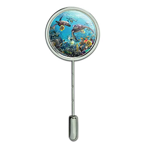 GRAPHICS & MORE Ocean Coral Reef Sea Turtles Diving Stick Pin Stickpin Hat Brooch Diver Collectible Scuba Diving Pin