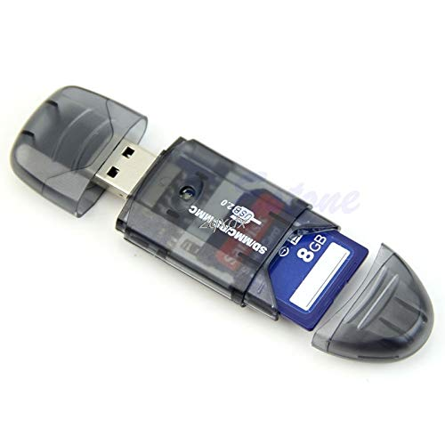 FENGYI LED Indicator Lights SDHC//SD//MMC Memory Card Reader to USB 2.0 Adapter