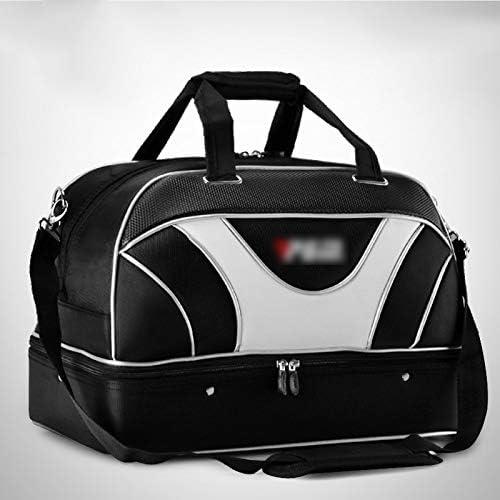 2つのスタイルを使用するようにメンズポータブルゴルフの服バッグバッグダブルレイヤー大容量服収納袋独立靴レイヤ設計が容易 HMMSP (Color : B)