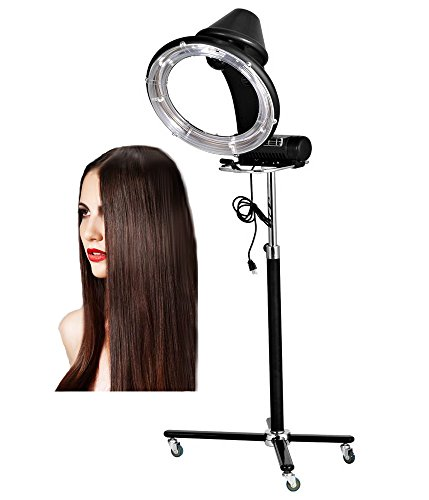 Ferty 900W Salon Hair Steamer, Adjustable Height Rolling Base Stand Multimode for Home or Professional Use 11V US Plug by ferty