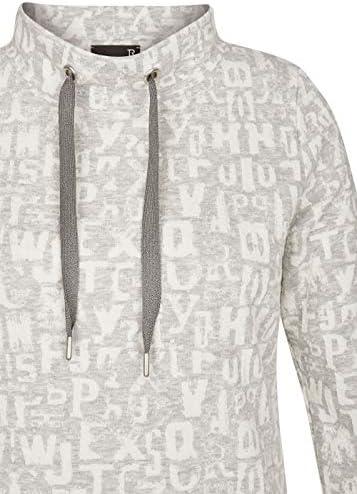"""Thomas Rabe damska koszulka z napisem """"Allover-Lettering"""" i tasiemkami do ściągania: Odzież"""