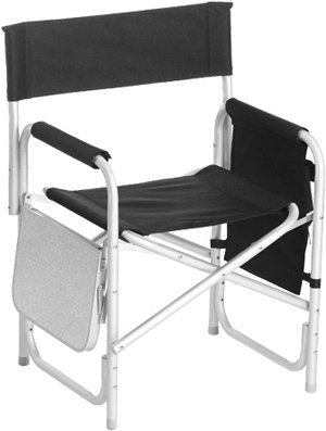 Picnic Plus Directors Chair - Picnic Plus Directors Sport Chair With Folding Side Table & Side Panel Pockets