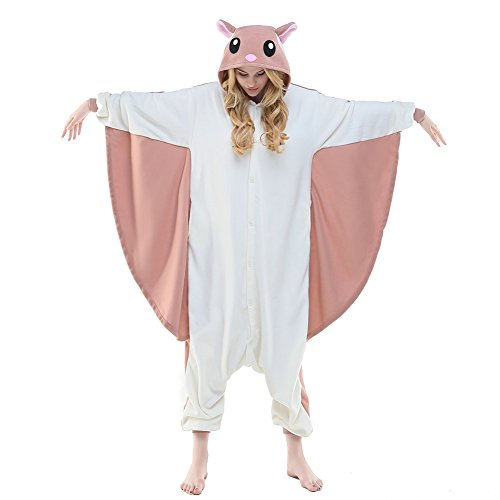 Adult Squirrel Costumes (NEWCOSPLAY Flying Squirrel Costume Sleepsuit Adult Pajamas (XL, Flying Squirrel))
