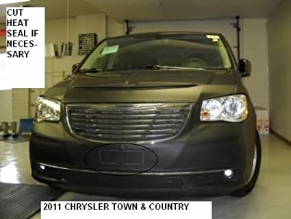 Car Mask Bra 2011-2016 Chrysler Town /& Country Lebra 2 Piece Front End Cover Black Fits