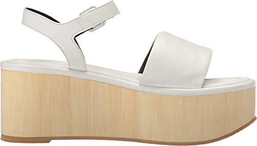 Robert Womens Leather Flap White Clergerie Calf q45Zq7OWr