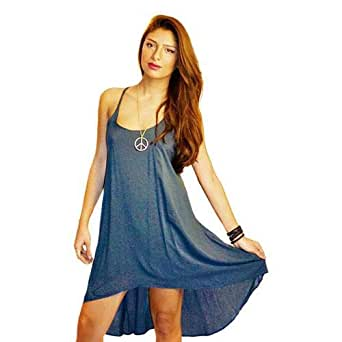 Hipster Cvd2ct-m Sundress For Women - M, Blue
