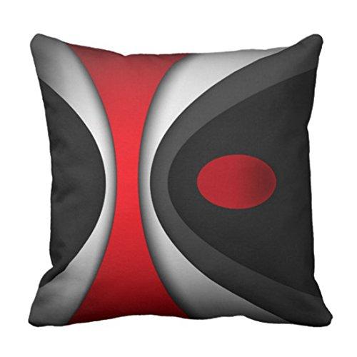 Pillow Decorative Modern (Emvency Throw Pillow Cover In Modern Abstract Style Decorative Pillow Case Red Home Decor Square 18 x 18 Inch Cushion Pillowcase)