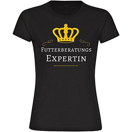 T-Shirt Futterberatungs Expertin schwarz Damen Gr. S bis 2XL
