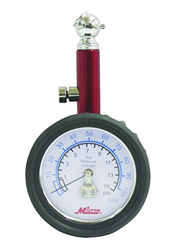 Milton S-931 Flexible Light Weight Hybrid PVC Air Hose Milton S-931  Dial Type Tire Gage 0-15 PSI Featuring Internal Diaphragm Construction and 45-degree Chuck