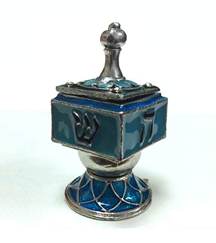 Hinged Enamel Collector Dreidle with Stand