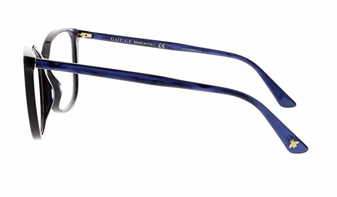abf73ec375 Amazon.com  Gucci GG 0026 O- 002 002 AVANA   AVANA Eyeglasses  Clothing