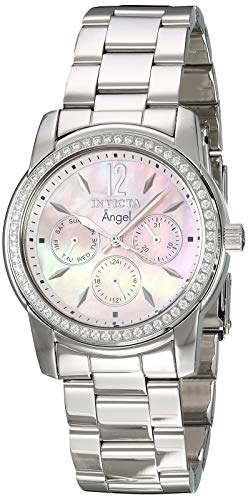 Pearl Womans Of Mother Watch (Invicta Women's 11769 Angel Pink Mother-Of-Pearl Dial Cubic Zirconia Accented Stainless Steel Watch)