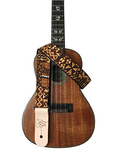 sherrins-threads-15-hawaiian-print-ukulele-strap-brown-tapa