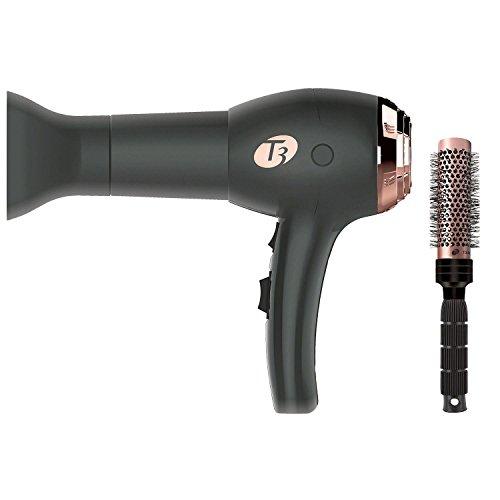 T3 Tourmaline Ceramic Brush (T 3 Featherweight Hair Dryer, Black 73857)