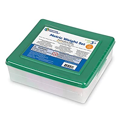 Learning Resources Metric Weight Set, Set of 58 Weights, 1g, 5g, 10g, 20g, 100g, 500g, 1000g: Office Products
