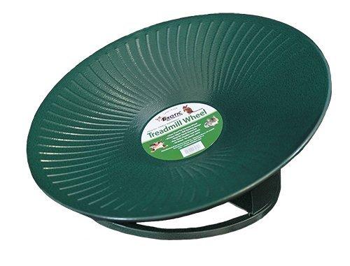 "Exotic Nutrition Metal Flying Saucer Wheel - The Treadmill Wheel 14"" Green"