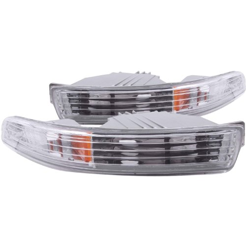 Anzo USA 511020 Acura Integra Chrome Euro w/Amber Reflector Bumper Light Assembly - (Sold in (Acura Integra Lights)