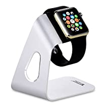 Tendak Charging Stand Bracket Docking Station Stock Cradle Holder for Apple Watch Both 38mm & 42mm, Aluminum Build Stand