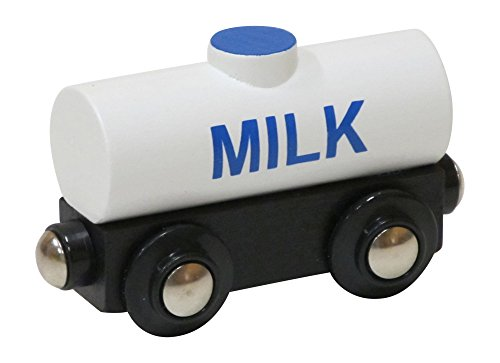 Milk Train - Choo Choo Track & Toy Co. Milk Tank Car magnetic wooden train