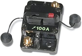 WirthCo 31202 Battery Doctor 100 Amp Manual and Switchable Reset Circuit Breaker with Terminal Cover