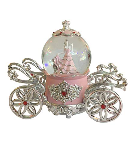 NON ROCK Snow White Water Globe Crystal Ball Musical Box Luxury Color Change Luminous Rotating