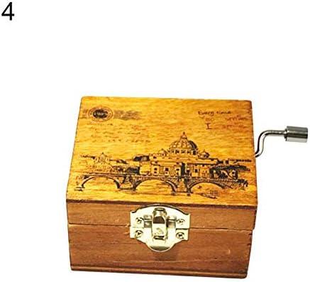 Ogquaton Regalo Creativo Caja de música Mini Vintage Manivela Caja de música de Madera Regalo de cumpleaños Decoración navideña Caja de música Práctico y útil: Amazon.es: Hogar