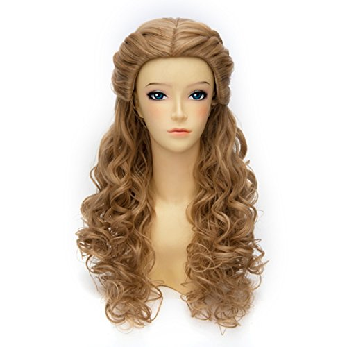 Probeauty Brown Curly Braid Long Cosplay Wig Synthetic Women (Cinderella Wig Adult)